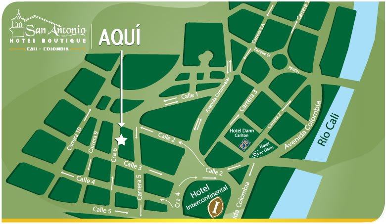 Boutique San Antonio Hotel Map, OFFICIAL WEBSITE | Cali Boutique San on